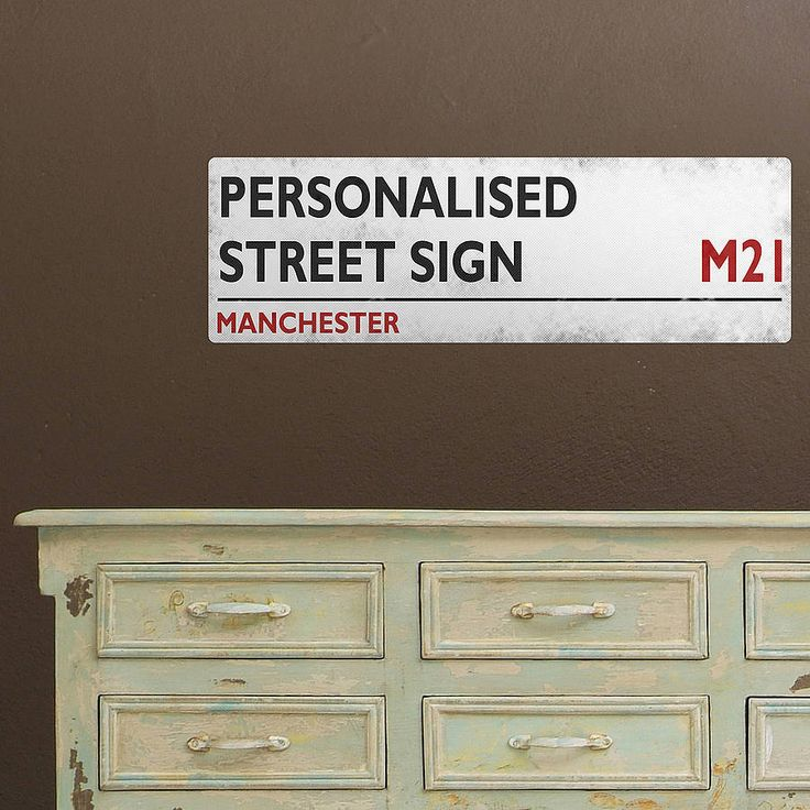 personalised british street sign wall sticker by the binary box | notonthehighstreet.com