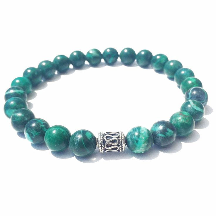 Malachite is a stone of transformation, assisting one in changing situations and providing for spiritual growth. The richness of its colors & textures will definitely make your bracelet unique. Ornate