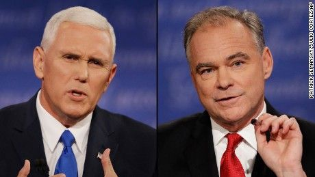 For one night, Mike Pence put a calmer, gentler face on the 2016 Republican ticket. And Tim Kaine's pestering style helped him do it.