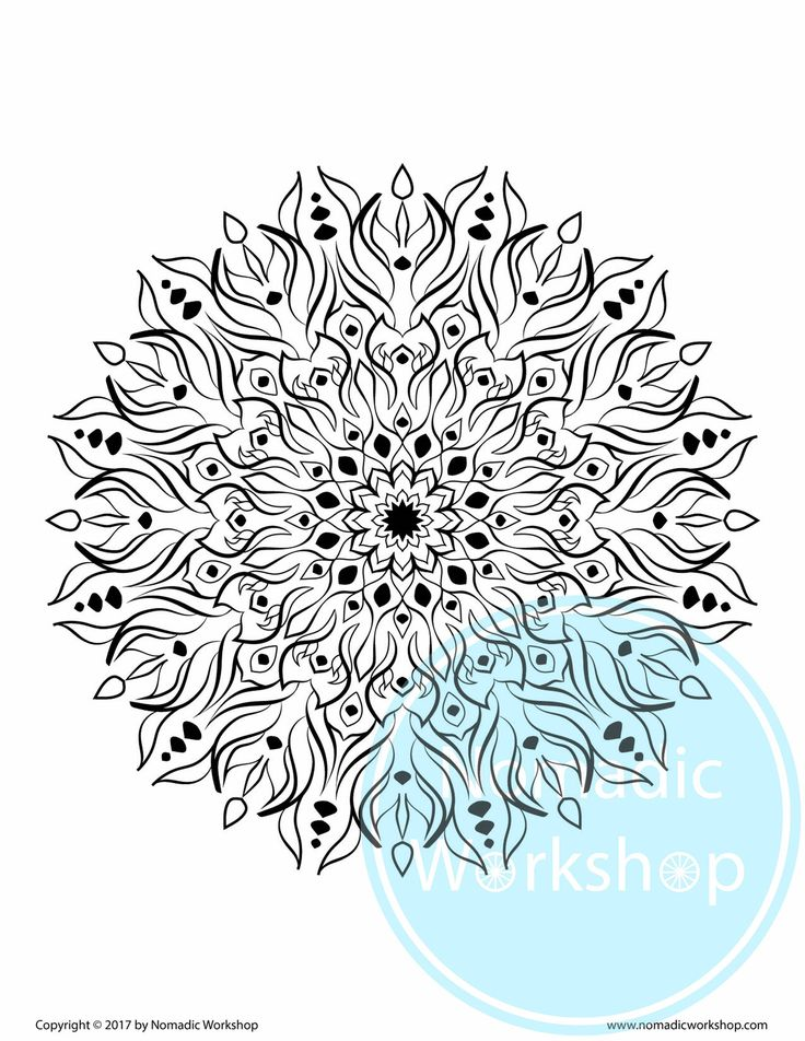 mandala 1 free coloring page coloring for adults adult coloring pages instant downloadmandala art stress relief colouring page