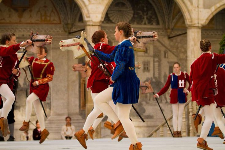 """Enjoy exciting days at Neuburg's Medieval Town Festival, with riding tournaments and the children's hobby-horse dance """"Steckenreitertanz"""", held every two years, again in 2015"""