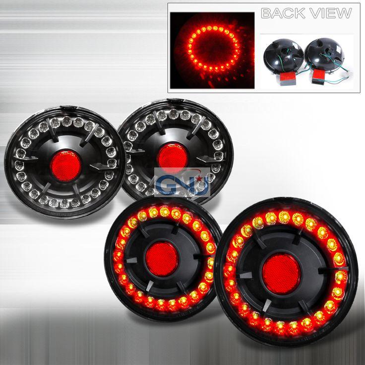 Chevrolet Corvette  2005-2007 Black LED Tail Lights