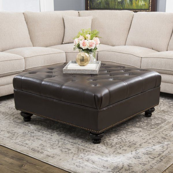 Pin On Brown Leather Ottoman