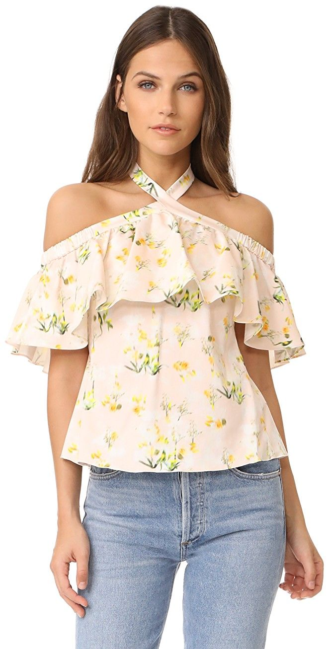 Rebecca Taylor Off Shoulder Firefly Floral Top | SHOPBOP SAVE UP TO 25% Use Code: EOTS17