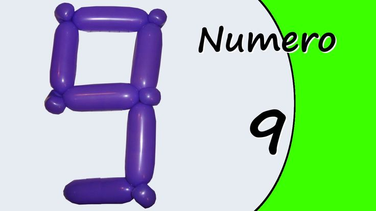 Video tutorial on how to make the Number Nine with balloon twisting. Learn the numbers with balloons modeled #numbers #number9 #numbernine