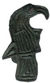 A Viking raven brooch from 8th-century Scandinavia. Ravens were the eyes and ears of Odin in Norse mythology.