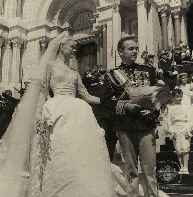 Prinzessin Gracia Patricia und Fürst Rainier wurden am 19. April 1956 kirchlich getraut.