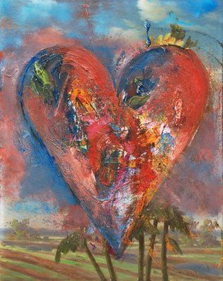 Jim Dine (b. 1935), American Abstract Expressionist, Heart Painting
