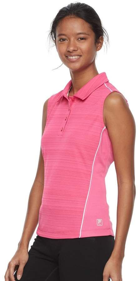 3fa2ed8b Fila Sport Women's FILA SPORT Sleeveless Knit Golf Polo Fashion, Dream,  Girl, Love, Pretty, Spring, Summer, Fall, Autumn, Winter, Sweet, Make Up,  Model, ...