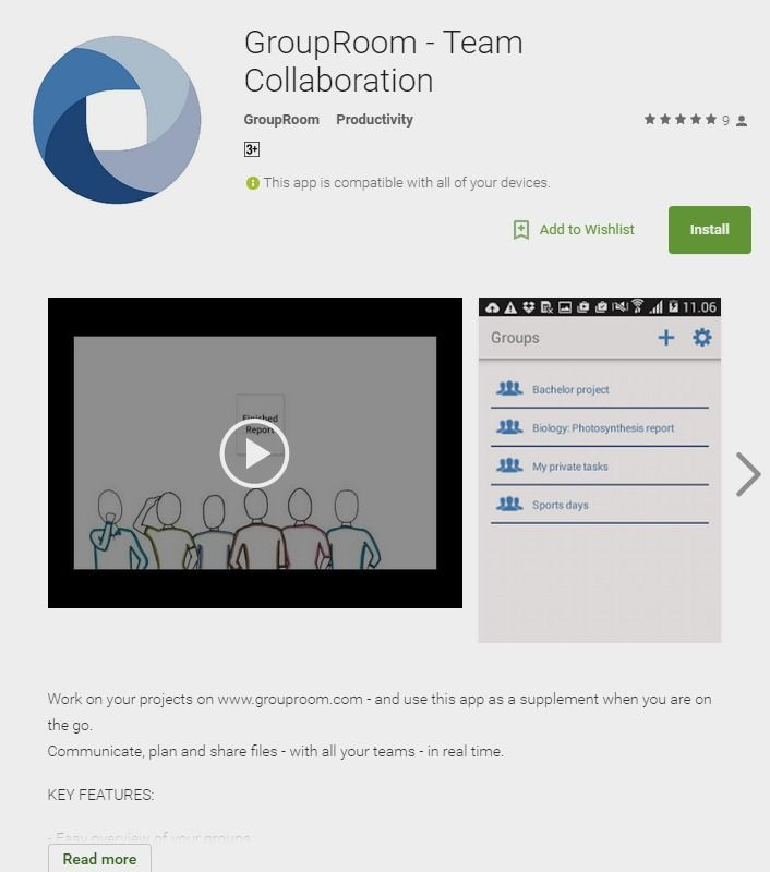 Collaborative writing apps for android