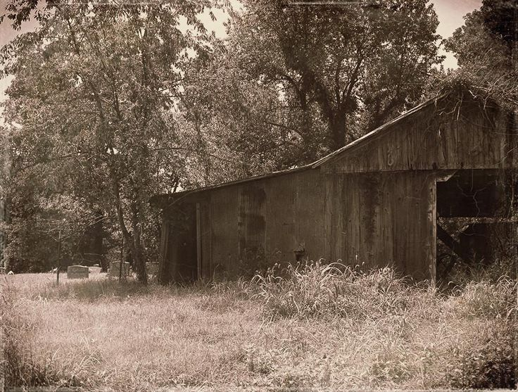 Barn and Cemetery, Rustic Fine Art Print