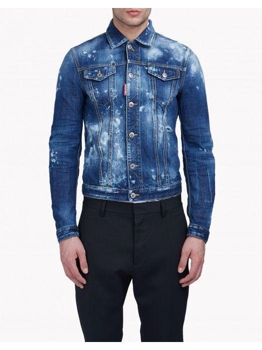 a4e16a41b3c Dsquared2 Baker Denim Jacket Men  dsquared2  fashion  lifestyle  jackets   men  outlet  clothing