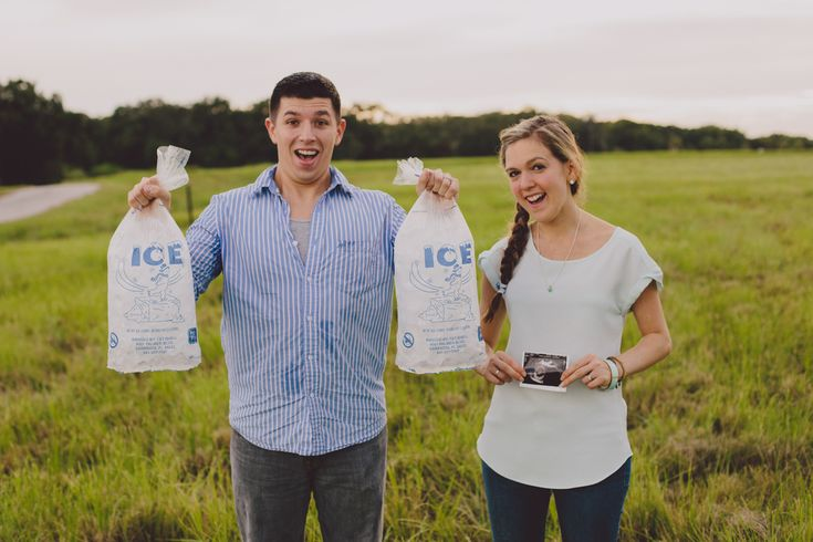 cute maternity announcement // ice ice baby