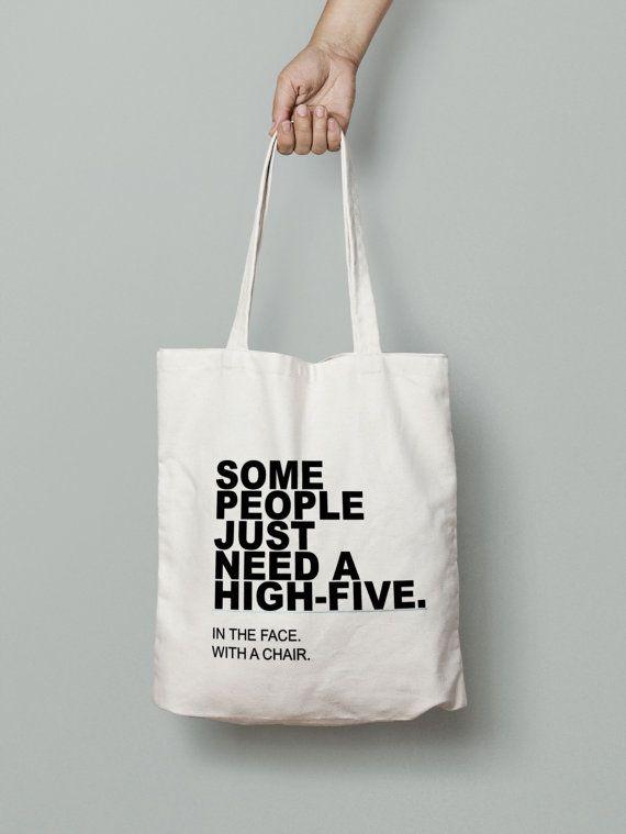 Funny Tote Bag  Canvas Tote Bag  Printed Tote Bag  by Mybebecadum