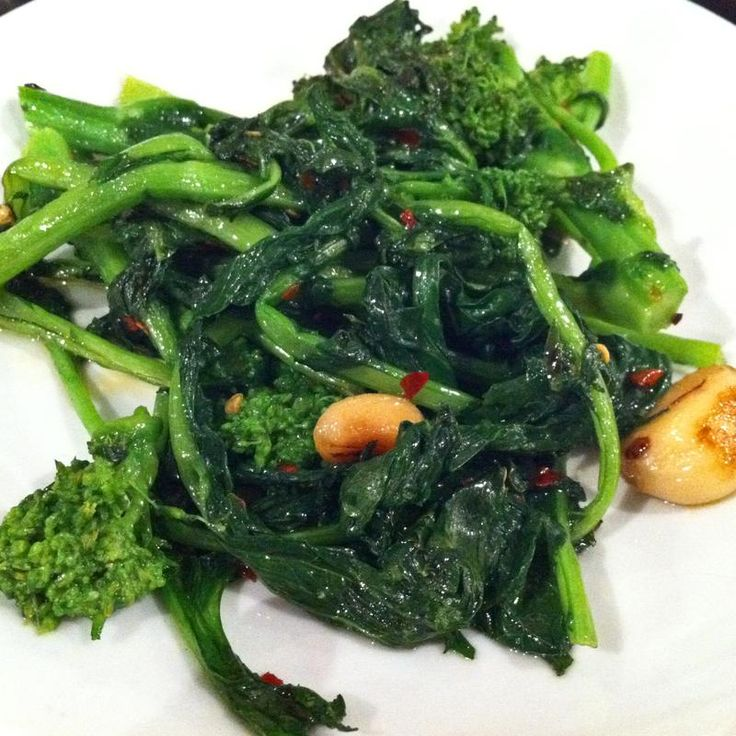 Broccoli Rabe With Olive Oil, Chili & Garlic Uva Trattoria Italiana