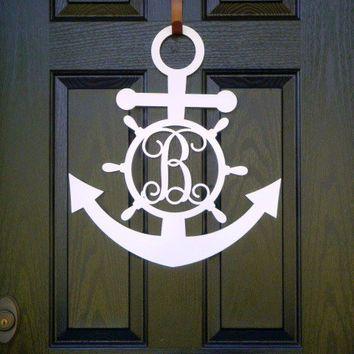 Metal Monogram Door Hanger Monogrammed From