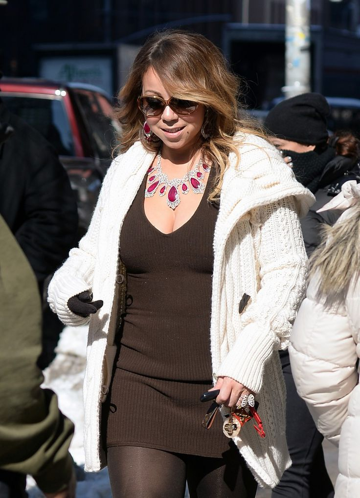 3/2/15 - Mariah Carey out in NYC.