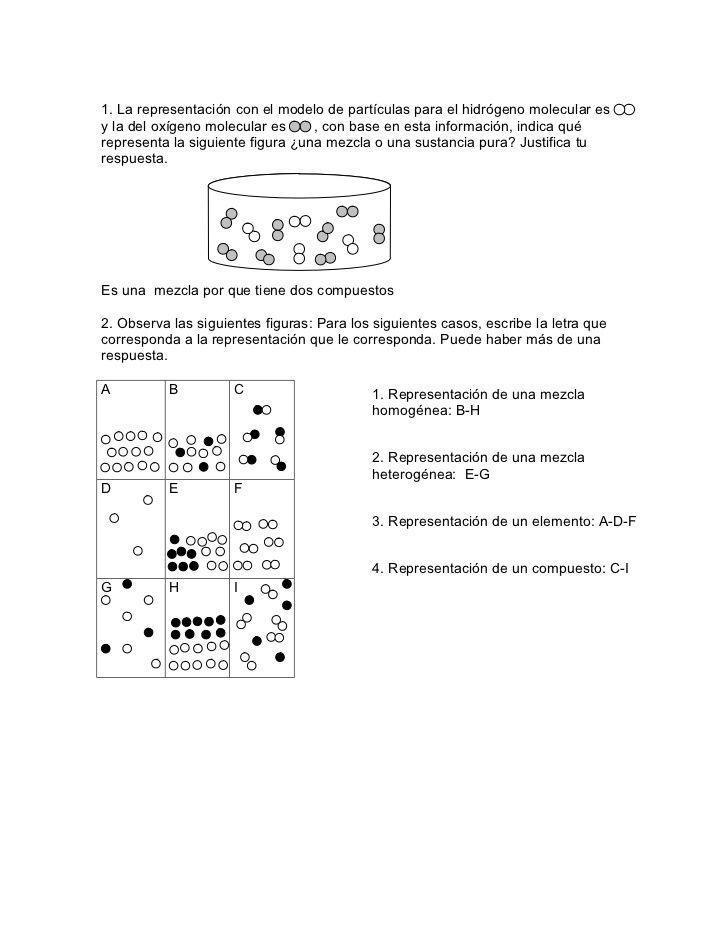 Actividad 2 ejercicios de mezclas | química | Chemistry, Science