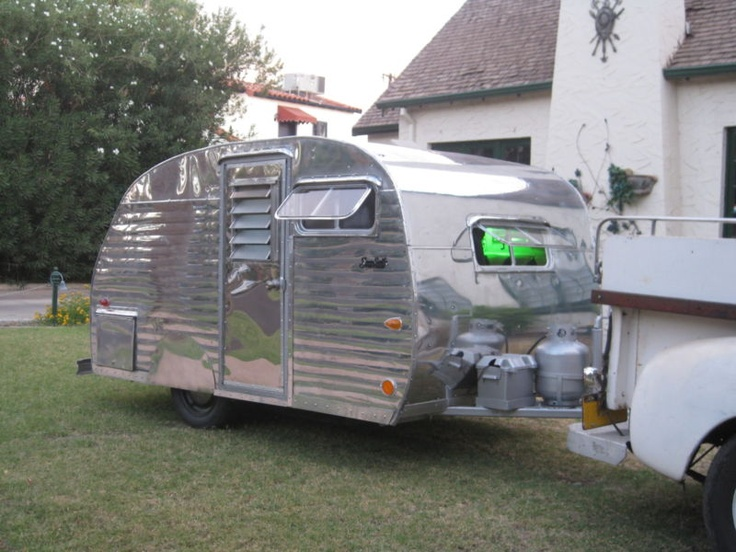1958 Serro Scotty Can Ham Like Airstream Travel Trailer