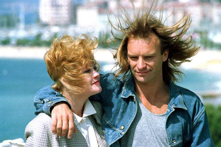 Cannes vintage -Sting e Melanie Griffith, 1988 (AP Photo/Gilbert Tourte)