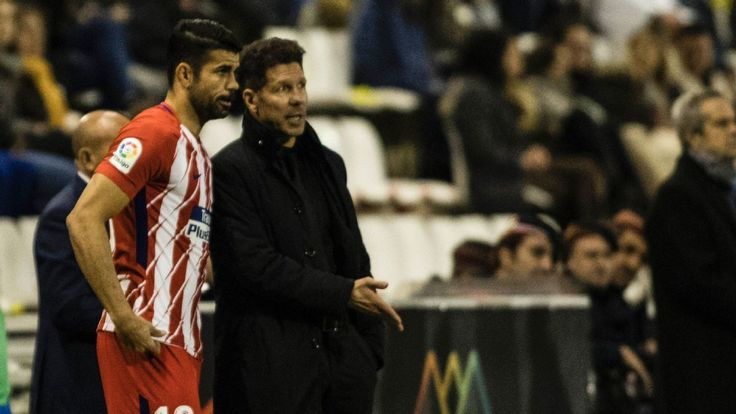 Atletico Madrid striker Diego Costa a doubt for Getafe game after knock