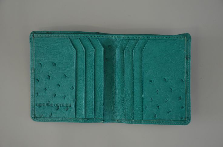 Ostrich Leather. Ostrix Credit Card Purse With Zip | GoodiesHub.com