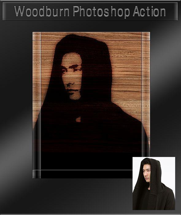 GraficAction | Woodburn Photoshop Action