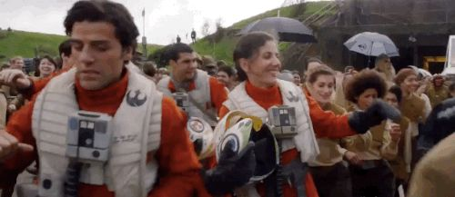 """Poe Dameron busted a move. 