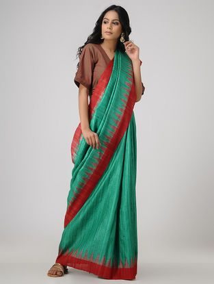 bae6f7eff2 Buy An Ikat Legacy Crafts Collection Sambalpuri ikat ghicha-tussar sarees  for the rooted woman Online at Jaypore.com