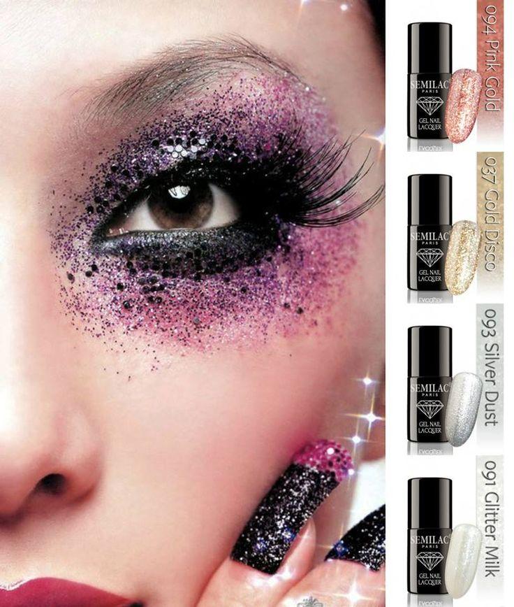 Glitter Events by Semilac http://www.forme.gr/store/el/semilac-imimonima-bernikia.html