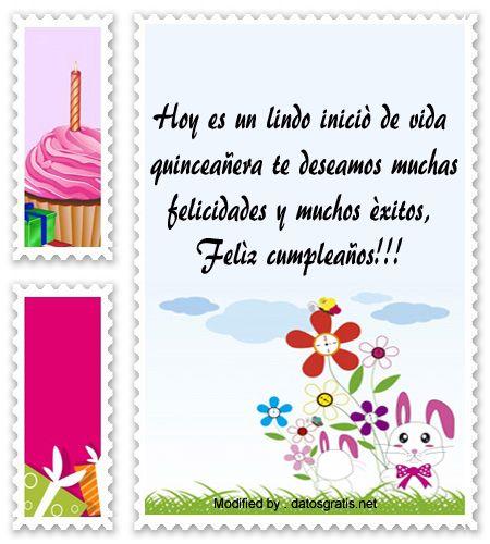 mensajes para quinceañera para facebook,palabras para quinceañera,: http://www.datosgratis.net/felicitaciones-de-cumpleanos-por-15-anos/