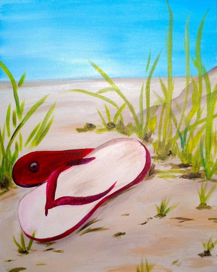 onitsuka tiger navy red Flip flops Paint and wine party ideas