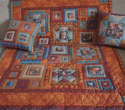 """Пледы и одеяла ручной работы. Ярмарка Мастеров - ручная работа. Купить Детское лоскутное одеяло """"Белочки"""". Handmade. Рыжий, ребенок"""