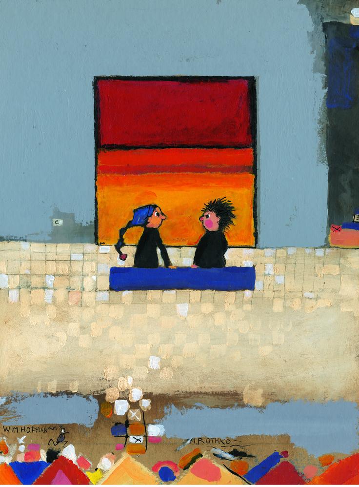 Puzemuze, of op weg naar Rothko | Gemeentemuseum - illustrator en schrijver Wim Hofman