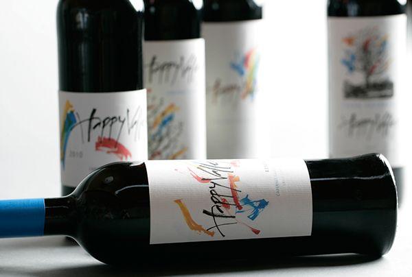 Happy Valley WIne Label by Labdiseño Chile, via Behance