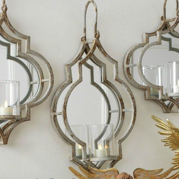 Gl And Metal Mirrored Wall Sconce Joy In 2019