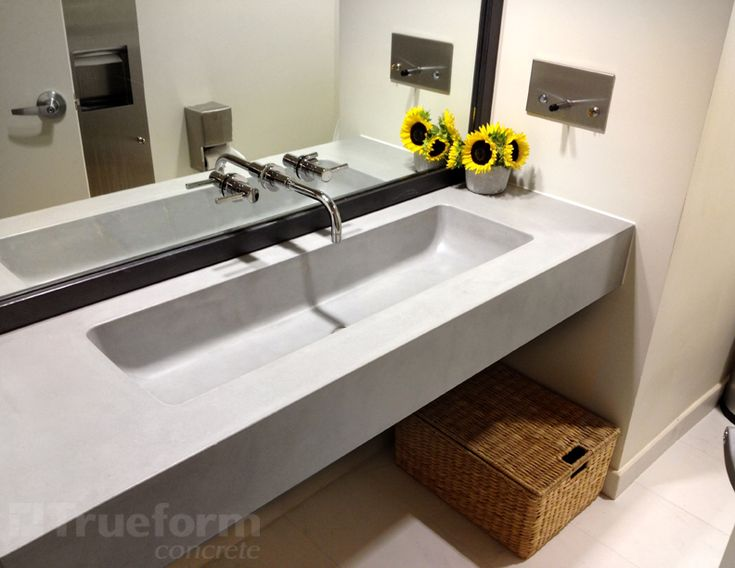 Bathroom Sinks Commercial 43 best custom concrete bathroom sinks | trueform concrete images