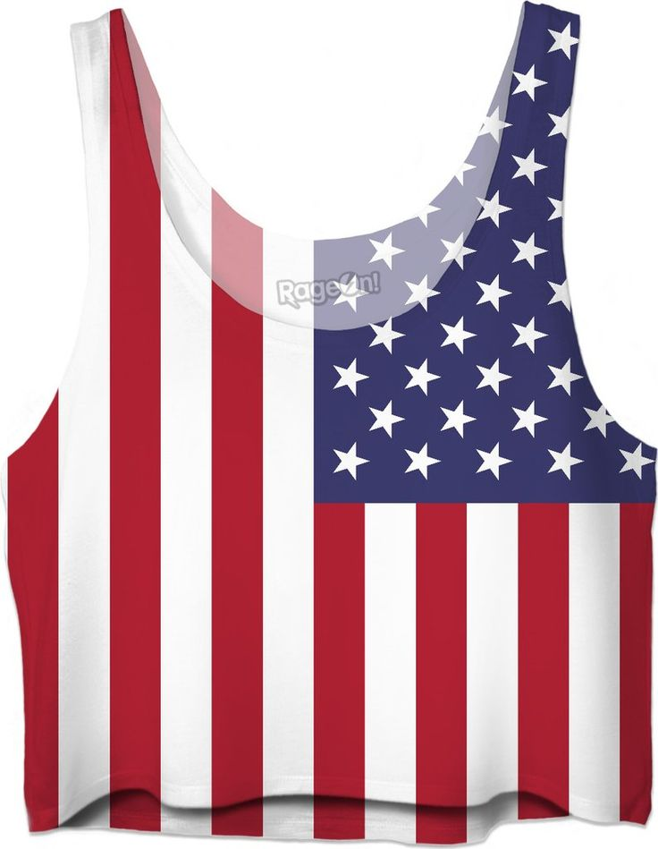 patriotic american flag team usa fourth of july crop top