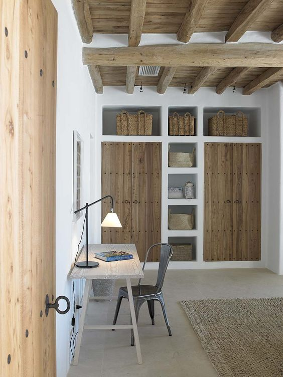 Possible brick/rendered wall cupboard - if not enough store space in kitchen. To house fridge/freezer.: