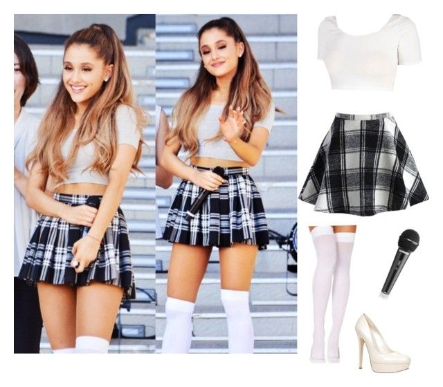 """Ariana grande"" by jada0066 ❤ liked on Polyvore featuring Chicwish and ALDO"