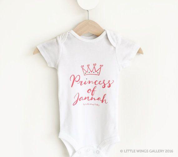 Princess Of Jannah Baby Romper/Onesie Baby by LittleWingsGallery