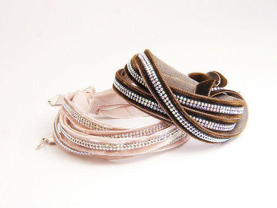 Cream multi strand bracelet cream wedding by PearlAnaJewelry