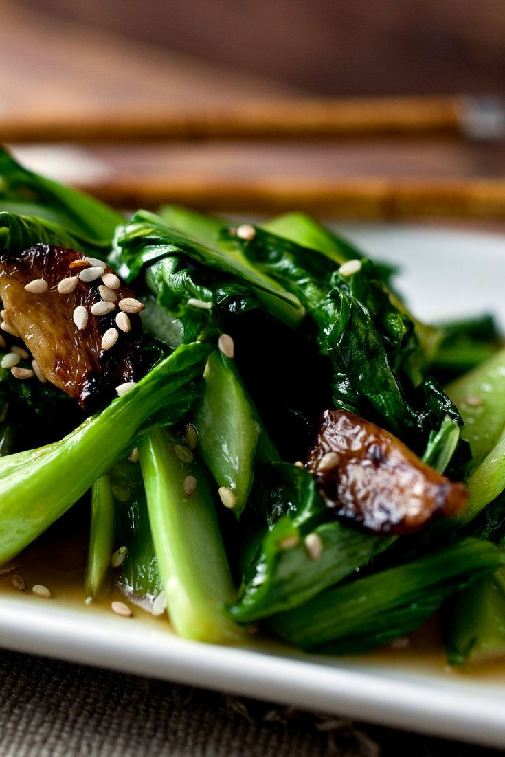 Stir-Fried Bok Choy or Sturdy Greens | NYT Cooking: This recipe works equally well with bok choy or sturdy greens, both of which have tough ribs and leaves that have a cruciferous flavor. I steam them for a minute before stir-frying so the leaves won't be too tough.