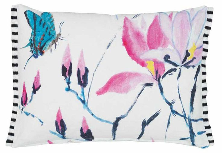 Madame Butterfly Peony Cushion