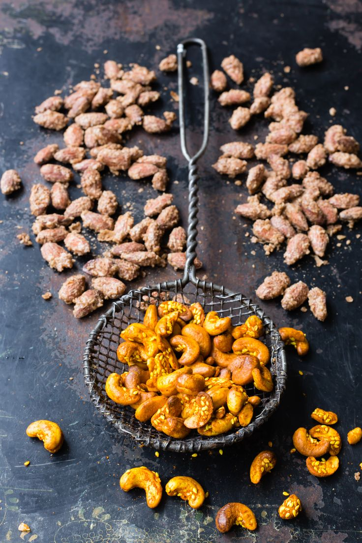 These roasted caramelised almonds are an incredibly addictive festive treat.