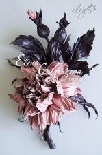 http://elegri.com/ Flowers from leather by Elena Grigoryeva (elegri)