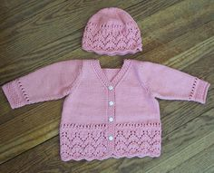 Lacy Baby Cardigan - free knitting Pattern