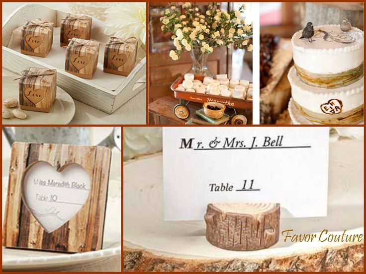 Hearts In Love Rustic Favor Box Real Wood Place Card Photo