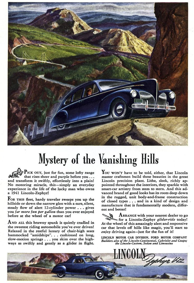 1941 lincoln zephyr ad 02 postersford modelslincolnvintagehtmlcars