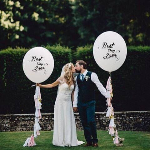 """Set of 2 White HUGE 36"""" inch Balloon oval Latex Printed Balloons Big Latex Wedding Decor & Party Balloon Supplies Mr Mrs Bride Groom by EVALonlinePartyShop on Etsy https://www.etsy.com/uk/listing/538421764/set-of-2-white-huge-36-inch-balloon-oval"""